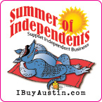 Custom Decal Stickers for Promotional Event for Austin Independent Business Alliance