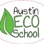 Oval Shaped Custom Decal Stickers for Austin Eco School